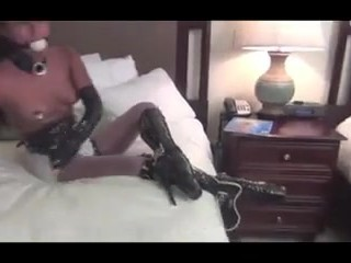Self bondage with vibrator gone wrong