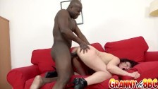Granny Vs BBC – Mature Claudie Dark Prepares Her Ass for BBC with Huge Toy