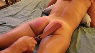 Sandra Moore (TMS-1) Amateur Sub Spanked Caned Restrained Pussy fucked Cum