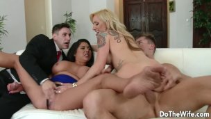 Swinger Wife Zoey Portland Gets Drilled While Hubby and Another Woman Watch