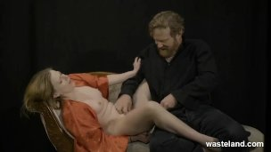 BDSM Flashbacks From Master And Mistress On Couch With Vibrator