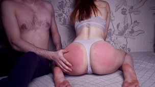 Hard Spanking My Sexy Wife Before Sex